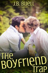 book cover shows title and two young men kissing