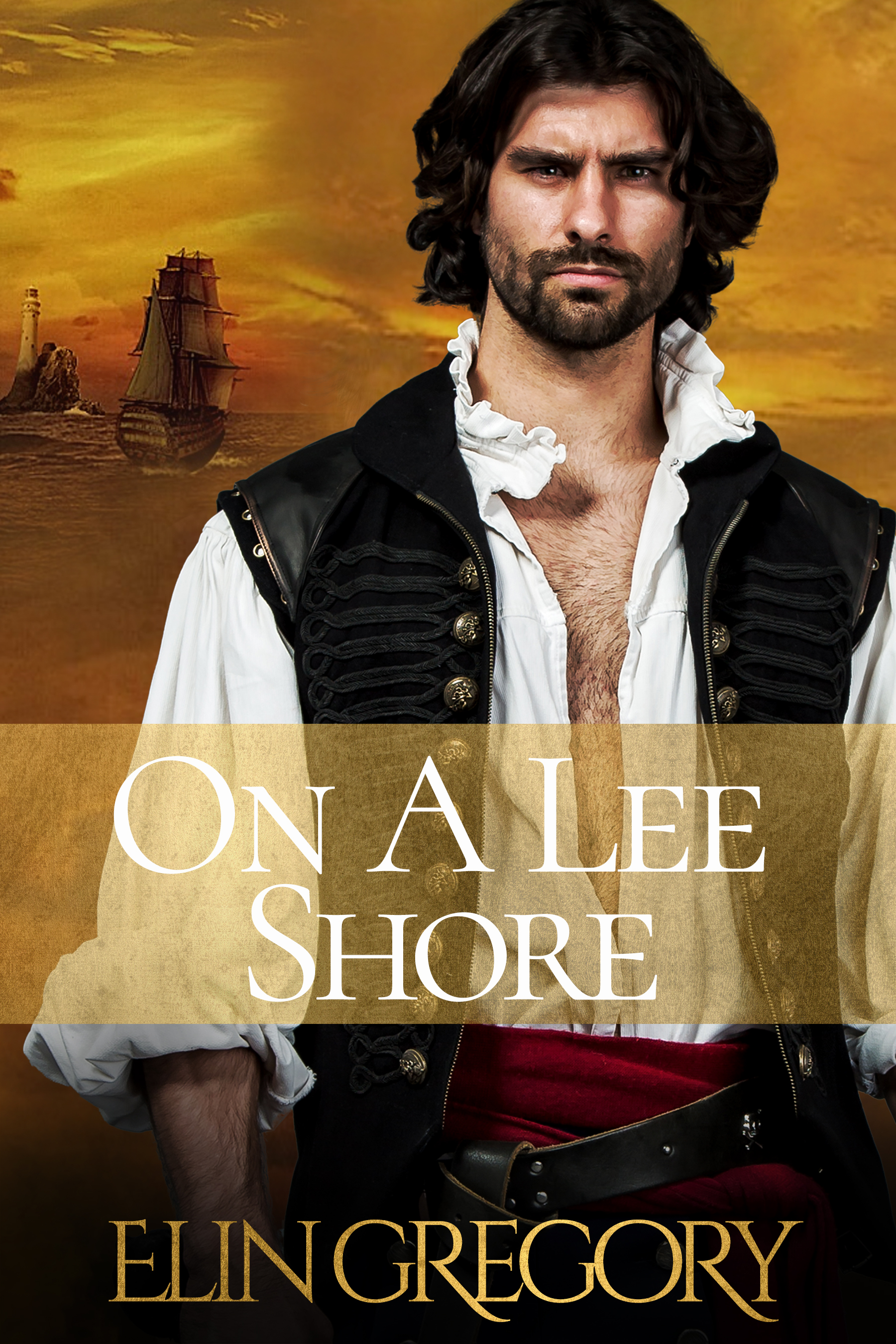 book cover showing pirate and ship