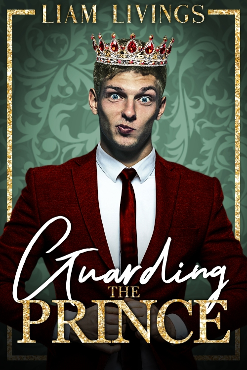 book cover featuring young man wearing a sparkly crown and a suit, with a wry smile